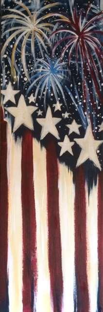10 x 30 Canvas Star Spangled Banner