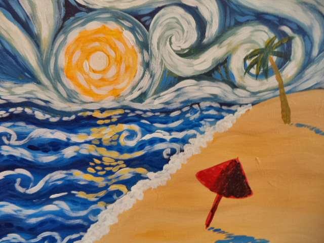Starry Beach Night