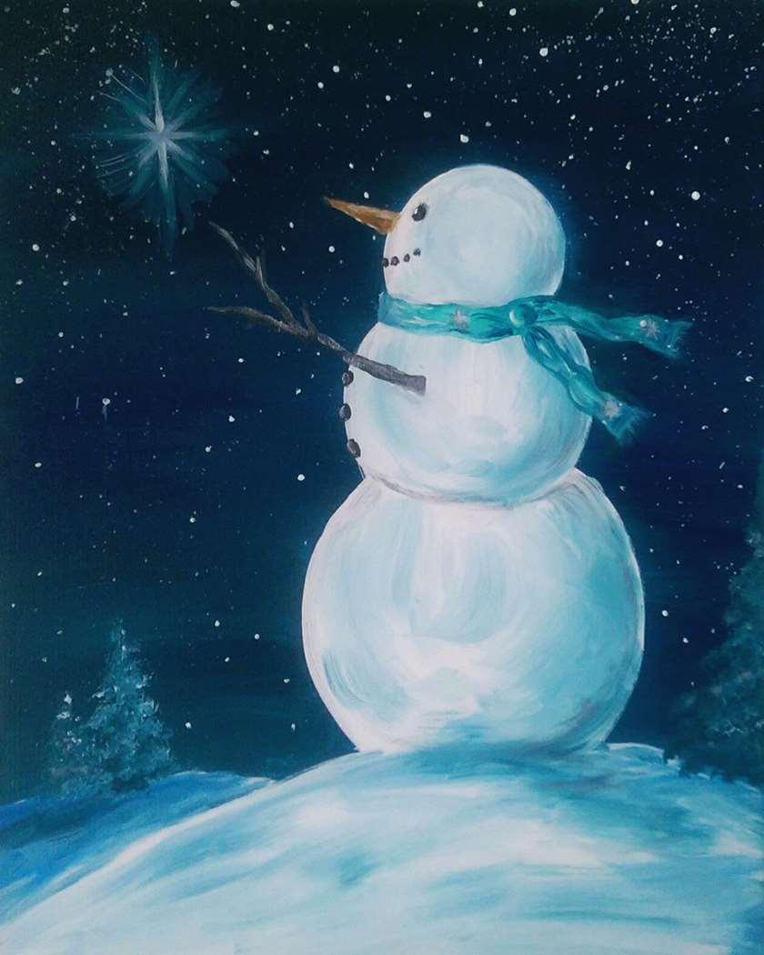 Starry-Eyed Snowman