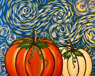 Starry Night Dashing Pumpkins