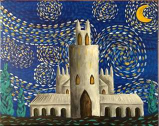 Starry Night Duke Chapel