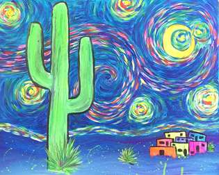 Starry Night in the Desert