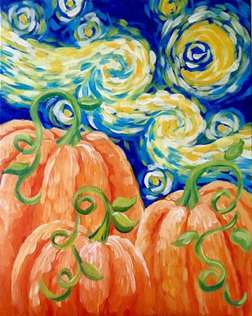 Starry Night in the Pumpkin Patch