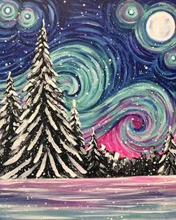 Starry Night in Winter