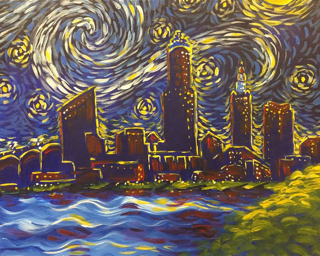 STARRY NIGHT OVER CLEVELAND - ADD A FRAME