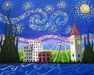 Starry Night Over Lilac City