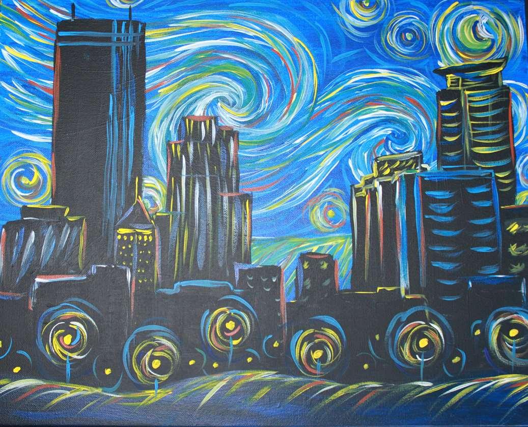 Starry Night Over Minneapolis