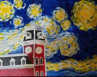 Starry Night Over Old Main
