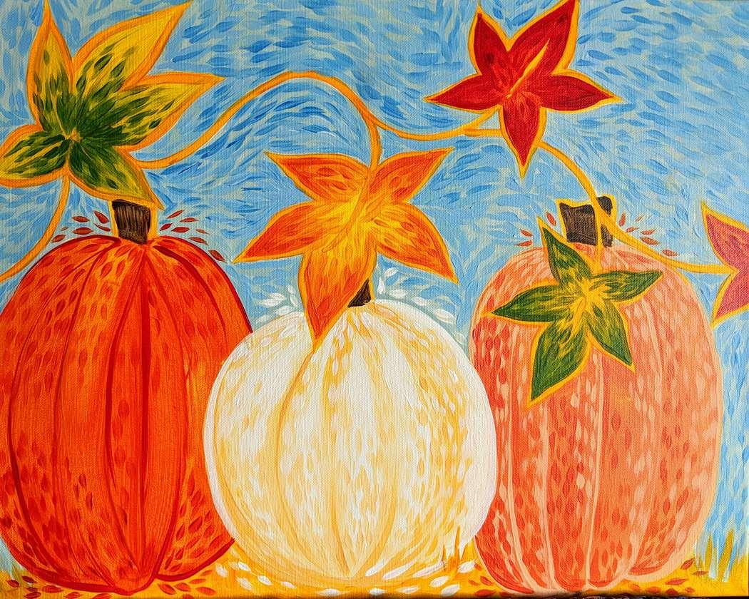 Starry Night Pumpkin Patch
