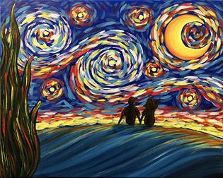 Starry Night Star Gazing