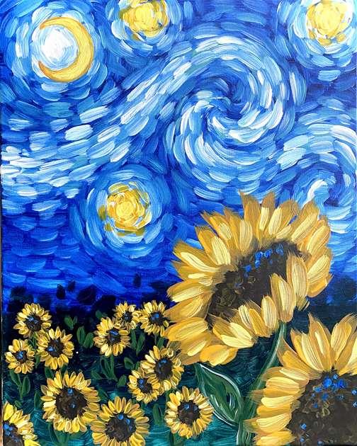 Starry Night Sunflower