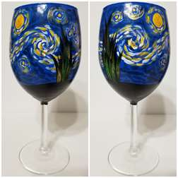 Starry Night Wine Glass Class