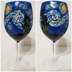 Starry Night Wine Glass Class