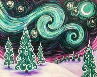 Starry Northern Lights