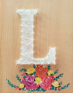 String Art: Floral Monogram