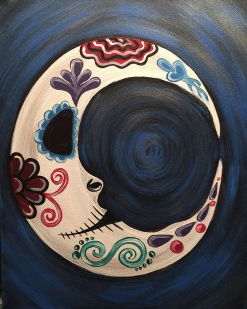 Sugar Skull Crescent Moon