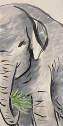 Sumi Style Elephant