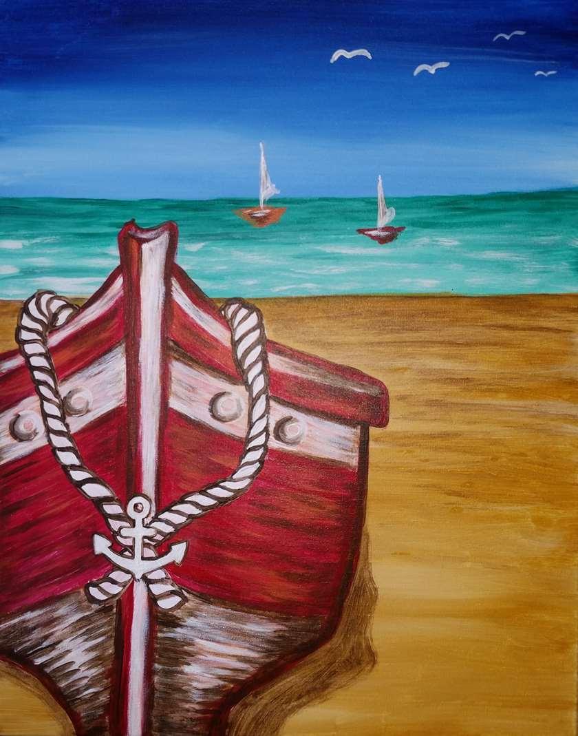 Summer Boat Ashore