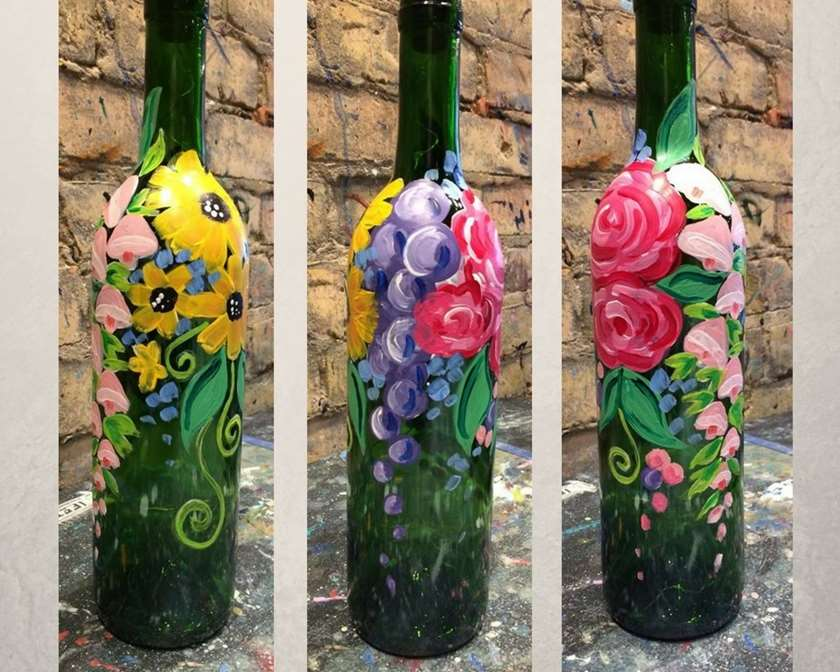 Wine Bottle with Lights!
