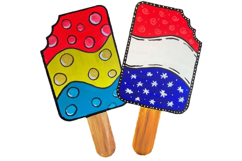 Summer Popsicle - Reversible Door Hanger
