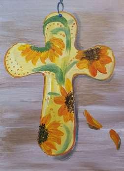 Sunflower Cross!