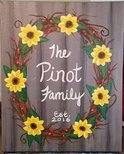 Sunflower Family Wreath
