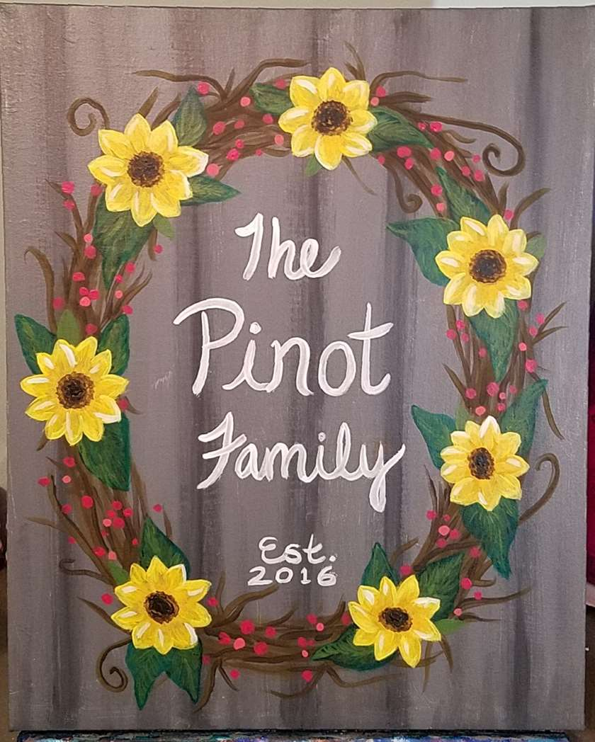 Sunflower Family Wreath