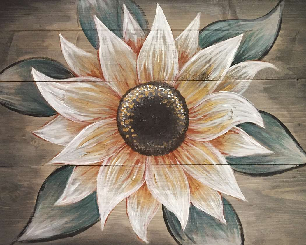 SUNFLOWER SHIMMER - WOOD PALLET UPGRADE AVAILABLE