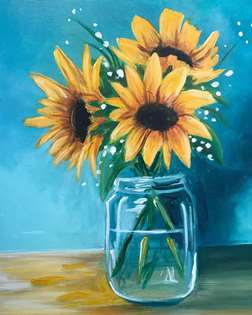 Sunflowers in a Glass