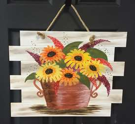 Sunflowers on a Wood Pallet