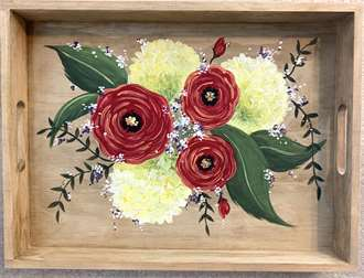 Sunny Floral Serving Tray