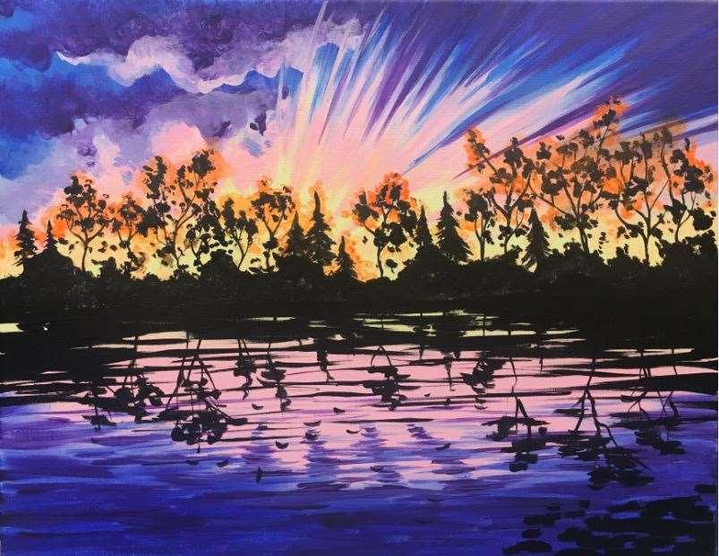 Sunset in Purple