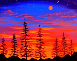 Sunset Moon (under Blacklight)