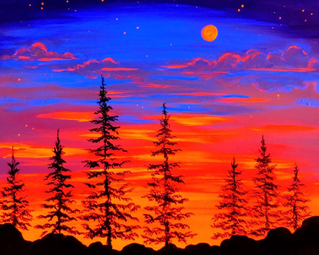 Sunset Moon (under Blacklight)