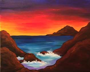 Sunset on Orchid Sand Cove