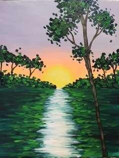 Sunset On The Stream