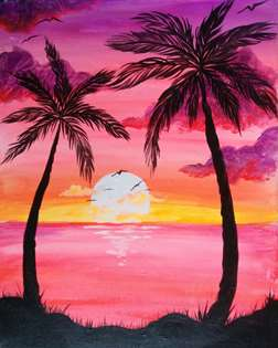 Sunset Palms