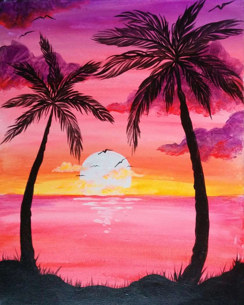 BLACK LIGHT CLASS: SUNSET PALMS - LIMITED SEATING
