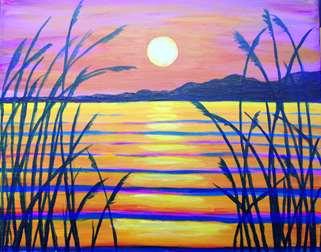 Sunset Through the Reeds