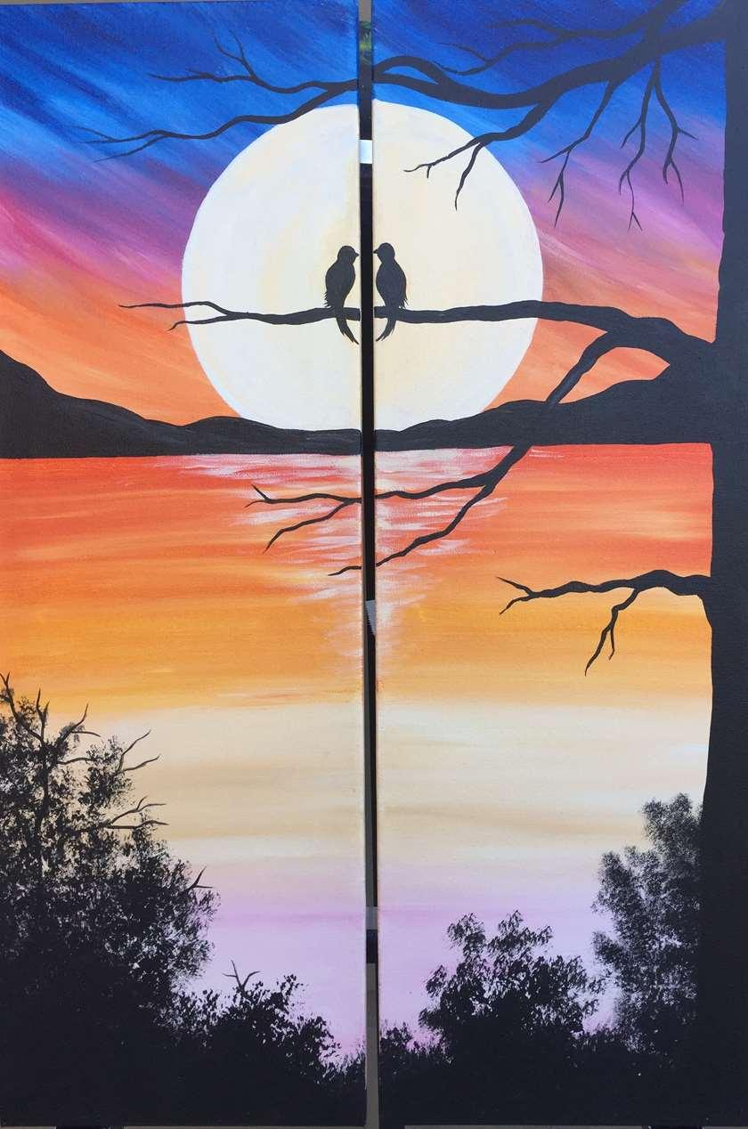 Surreal Lake Sunset