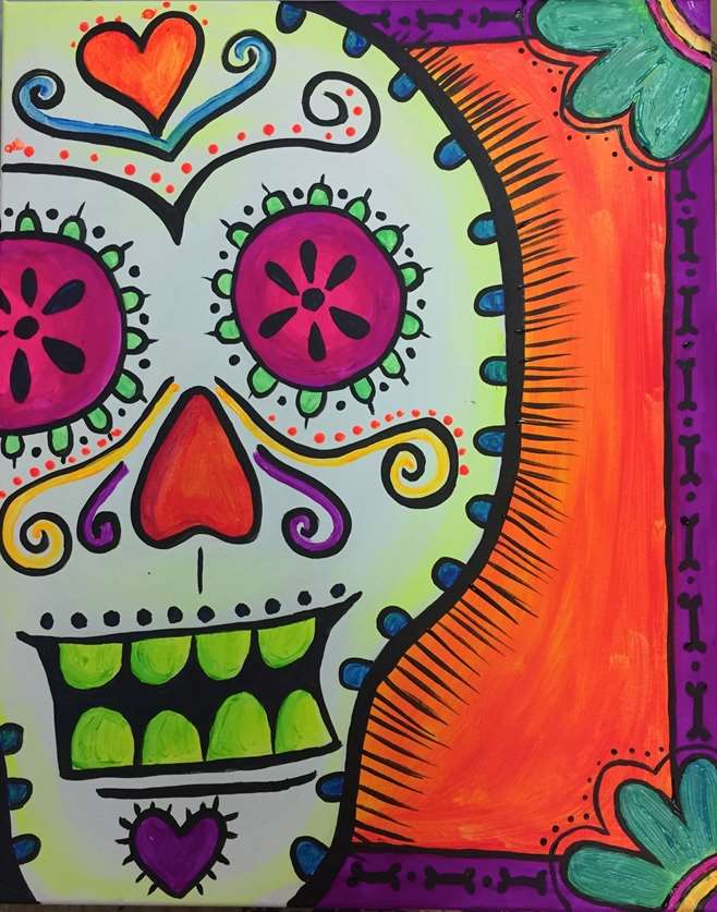 Sweet Glow Sugar Skull - In Studio Event - Limited Seating Available