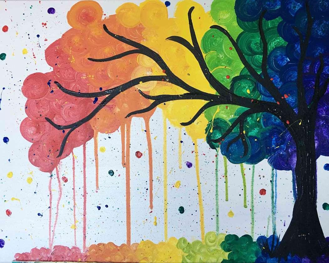 Swirly Rainbow Tree