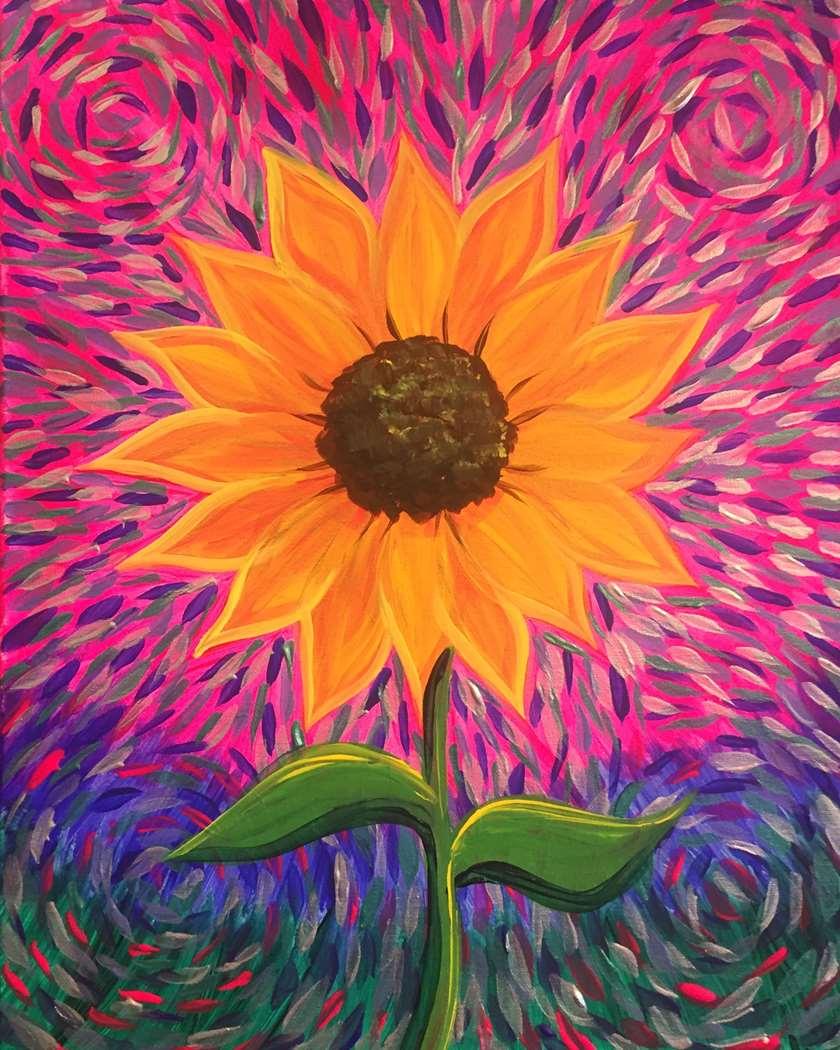 Swirly Sunflower