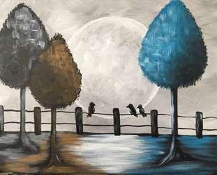 Teal Tree Moon