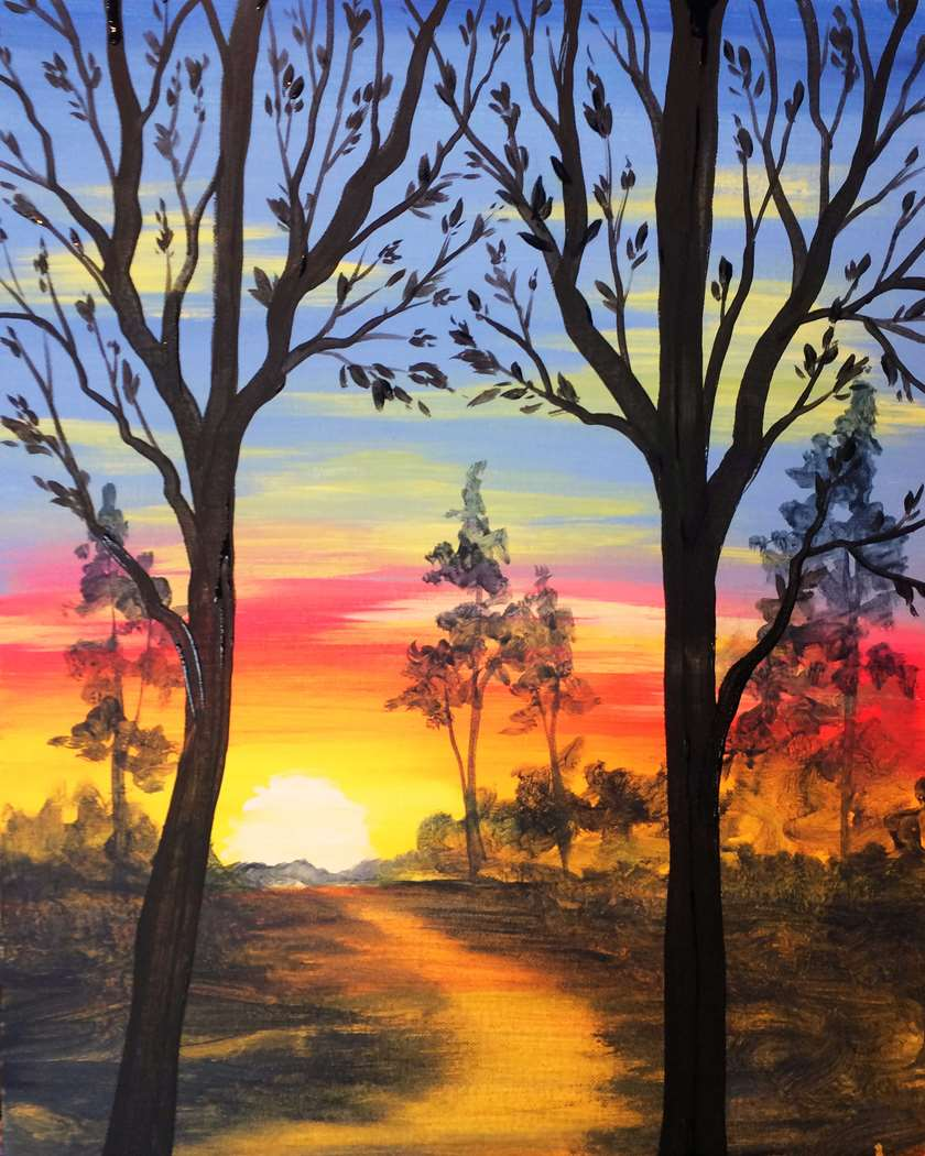 The magic hour pinot 39 s palette painting for Paint bar newton