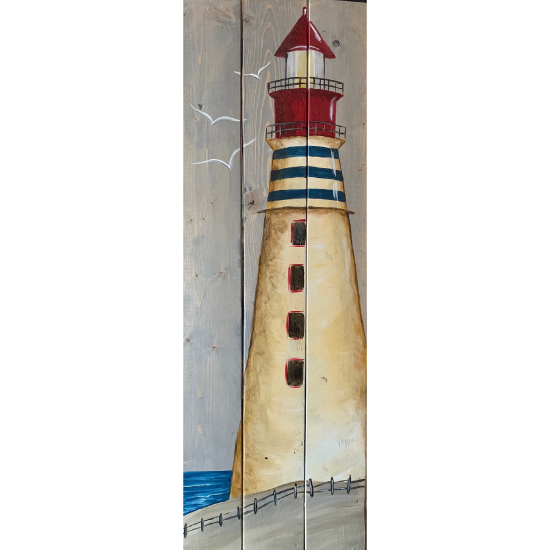 IN STUDIO-The Vintage Lighthouse On Wood Pallet
