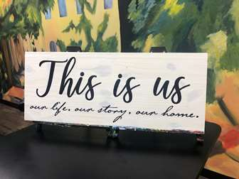 """""""This Is Us"""" DIY Wood Board"""