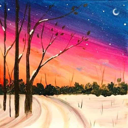 THPK Snowy Sunset