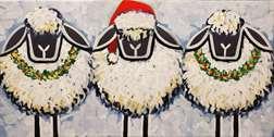 Three Festive Sheep