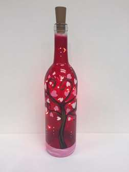 Tree of Love ~ Wine Bottle